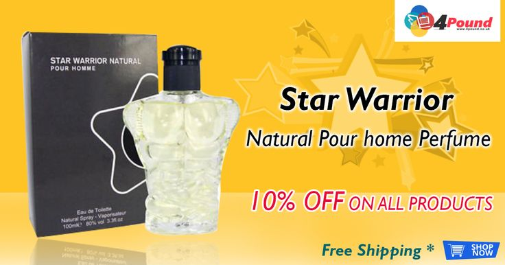 10% OFF on Star Warrior Natural Pour Home Perfume (Pack Of 2) for £3.97. Grab it now with free shipping availability. Apply coupon code as 4pound10. Product Description : Star Warrior Natural Pour Homme. Eau De Toilette. Natural Spray Vaporisateur. 3.4FL.OZ,80% Vol,Perfume London. Soft Order.  http://www.4pound.co.uk/star-warrior-natural-pour-homme