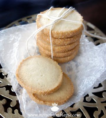 on the hunt for the best shortbread cookie....  Cardamom Shortbread Cookie recipe from Not So Humble Pie blog