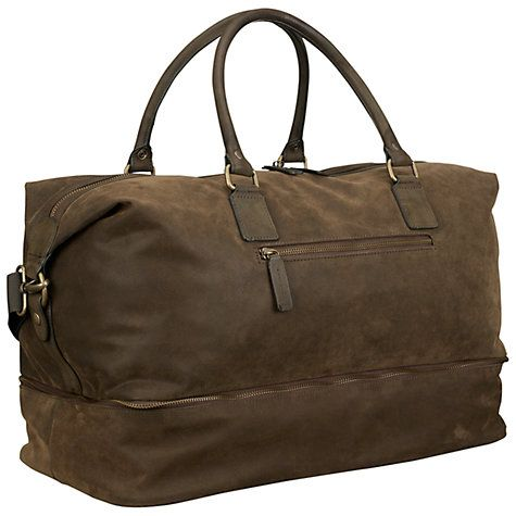 Buy John Lewis Milano Shoe Compartment Holdall, Olive Online at johnlewis.com