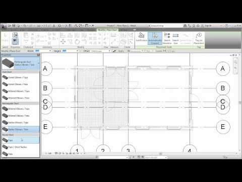Revit MEP 2012 - Session 4 - Draw Ductwork.mp4 - YouTube