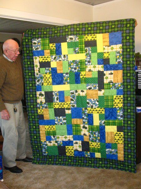 John Deere Quilt Patterns : This is the john deere quilt i made for my father who was
