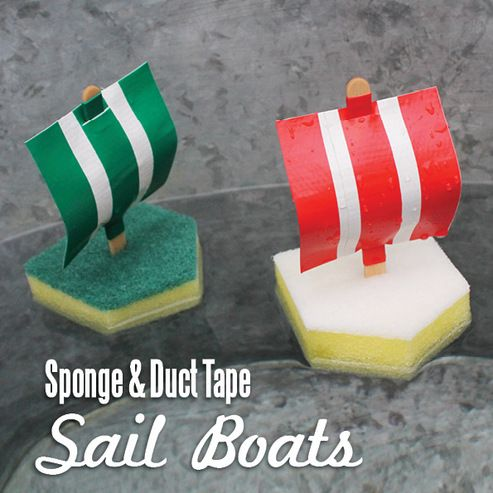 Sponge and duct tape sail boats