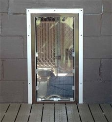 1000 images about kennel doors on pinterest cable the - Interior door with pet door installed ...