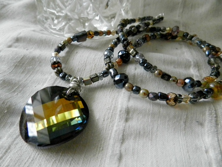 Swarovski Crystal and mixed Czhec bead necklace