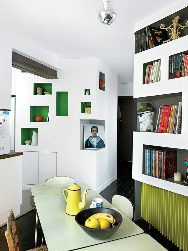 modern nooks in a parisian apartment