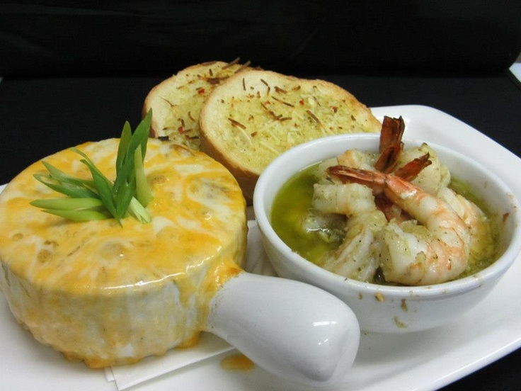 French Onion Soup, Garlic Prawns and Toast    Cattlemen's Club   Visit us at 9380 Highway 97 North, Vernon BC or call us at (250) 542 - 2178.