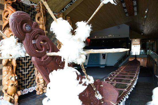 The Te Winika gallery is home to a 200 year old waka taua (war canoe)