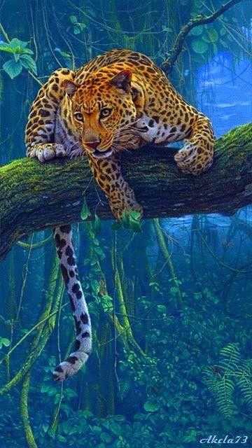 leopard art gif