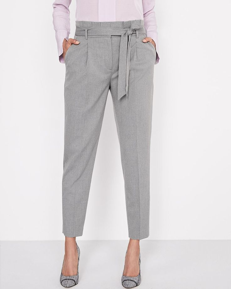 RW&CO. | Heather Grey Everyday Stretch Paperbag Pant | Spring 2018