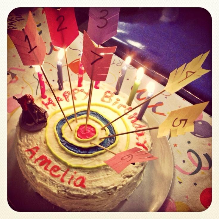 Amelia S Disney Brave Themed 7th Birthday Cake Archery