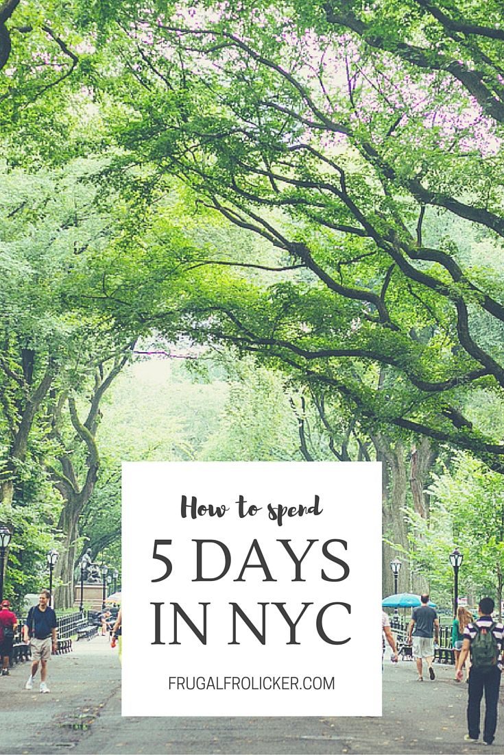How To Spend 5 Days in NYC. #nyc #newyork / / / / / Check out more travel photos and blog posts on my travel blog, frugalfrolicker.com