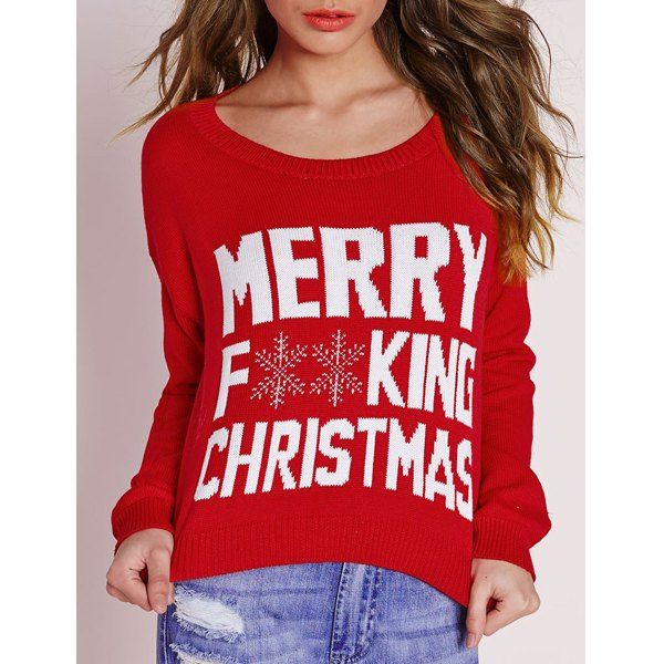 coral rose wmns air jordan 6 retro low Stylish Scoop Neck Long Sleeve Snowflake and Letter Pattern Women  39 s Christmas Sweater