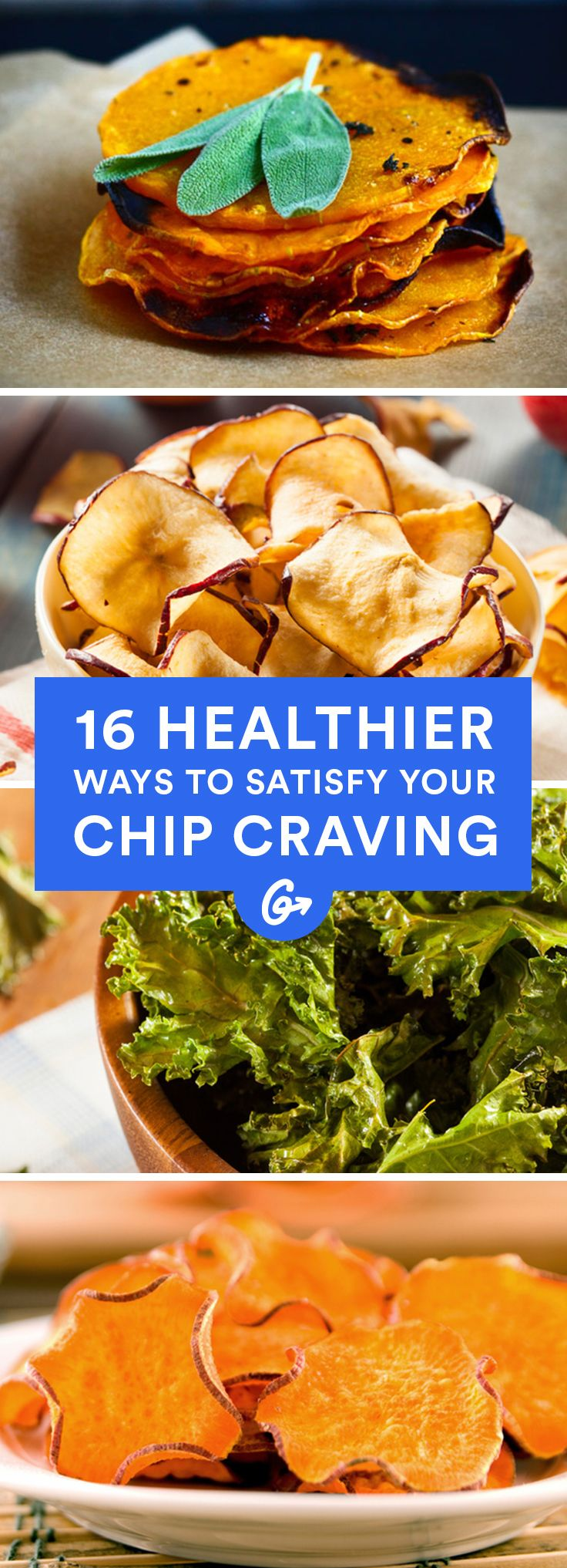 All it takes is some slicing, rubbing in oil, baking, and our favorite part: munching. #healthy #chip #recipes http://greatist.com/health/healthy-chip-alternatives