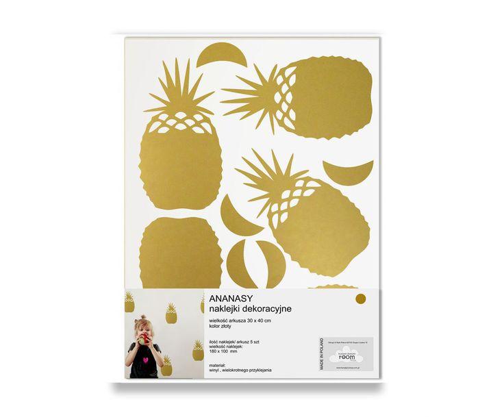 Humpty Dumpty Room Decoration Naklejki Pineapples / #ladnerzeczy #targirzeczyladnych #ladnerzeczydziejasiewinternecie #polishdesign #design #pinapple #dziecko #baby #babyroom