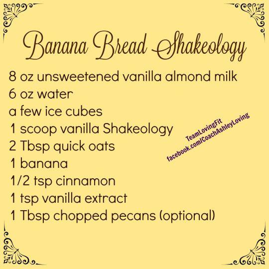 Banana Bread #Shakeology recipe. {Instagram @TeamLovingFit} #vanillashakeology #TeamLovingFit