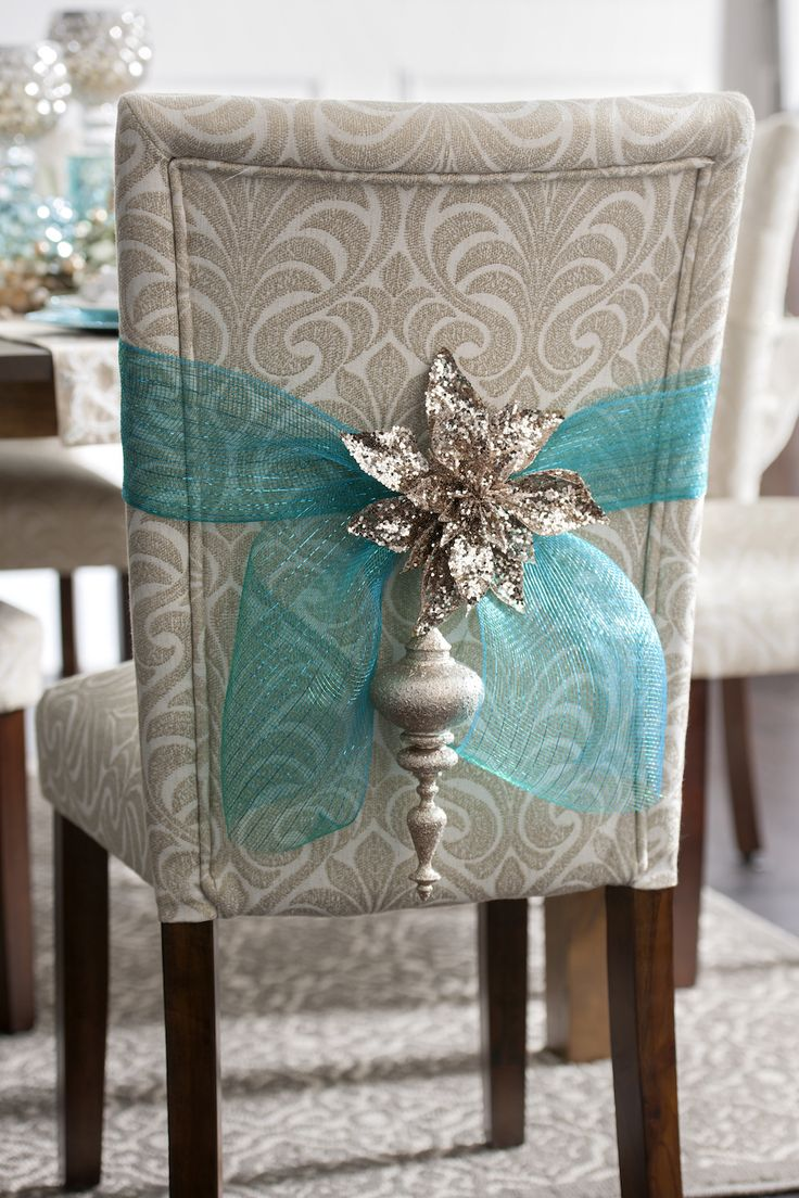Make sure every part of your home is decorated for your holiay party - even your dining room chairs! Shop the Joyeux Noel Collections for items that are full of sparkle and shine.