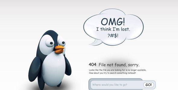 404 Pingu - 404 Pages Specialty Pages