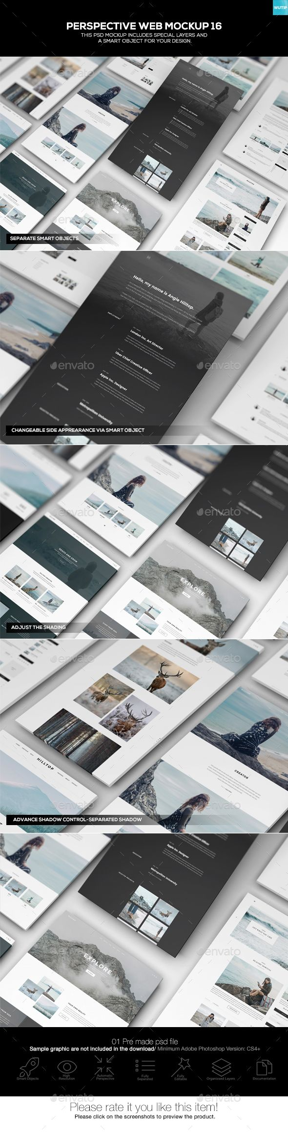Perspective Web Mockup 16 — Photoshop PSD #monitor #idevices • Available here → https://graphicriver.net/item/perspective-web-mockup-16/19680539?ref=pxcr