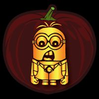 Despicable Me Minion 02 CO - Stoneykins Pumpkin Carving Patterns and Stencils