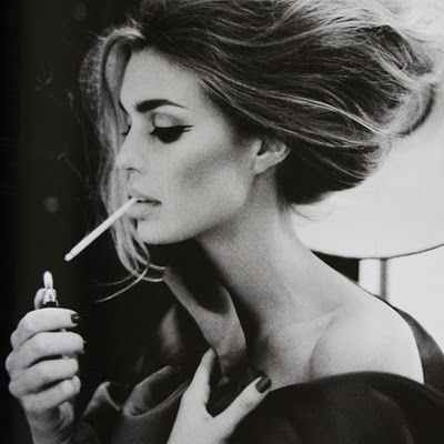 there are very few people who can get away with making smoking look classy..