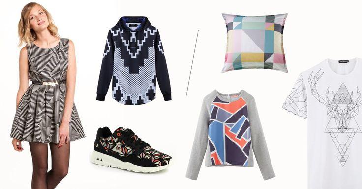 Grafische prints domineren het modebeeld. Vooral in 'black & white', maar deze trend wordt ook aangeboden in een ultrakleurrijke versie, voor een nonchalantere look.