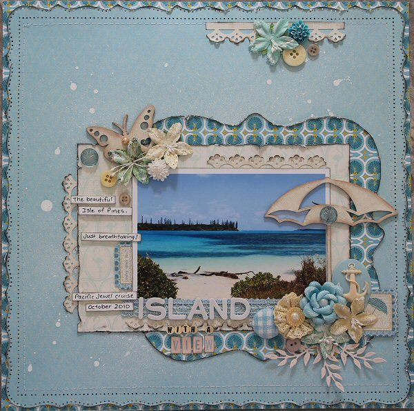 Websters Pages - Palm Beach **July DT work** Island with a view - Layout Gallery