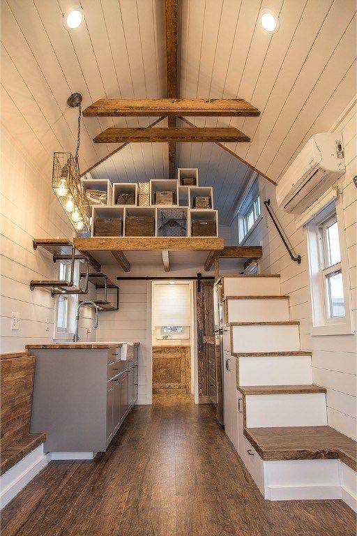 24ft Modern Farmhouse Tiny House on Wheels with Front and Rear Bump
