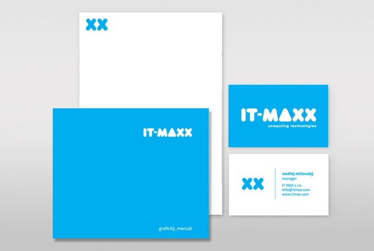 Corporate identity for IT company from Czech republic IT-MAX s.r.o.