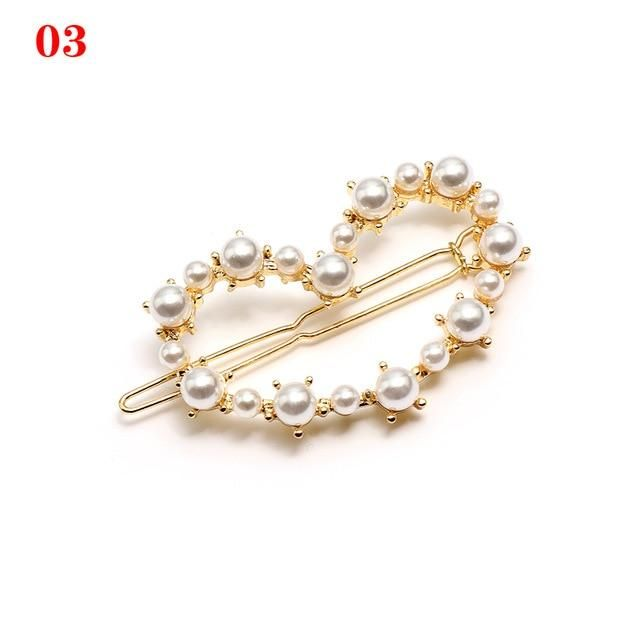 Ladies Trend Hair Equipment Steel Pearl Hairpins Woman Easy Hair Clip Barrette Headwear Hair Styling Device
