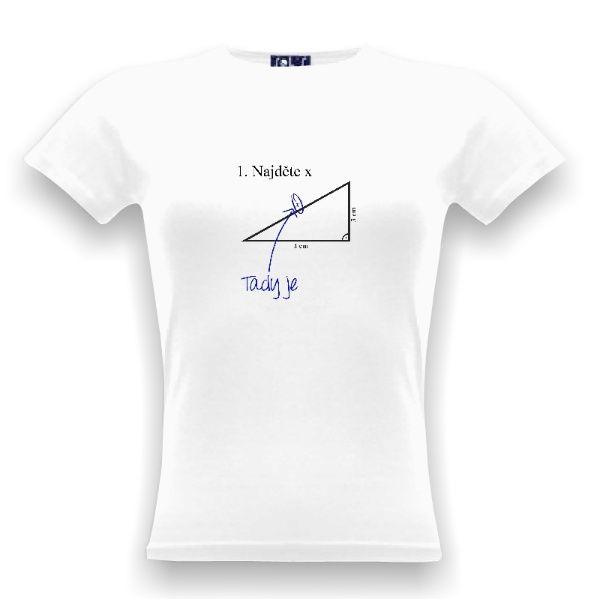 Tričko s potiskem Najděte X