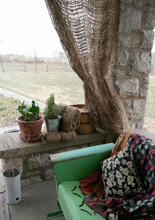 Our Beautiful Burlap Curtains are perfect for any decor! 12' x 4' only $24!  Farmhouse, Nautical, Boho-Chic, English Country - Lofts  & more!