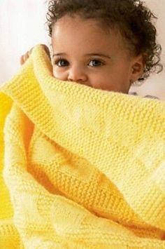 Padrões de tricô grátis para cobertores de bebê