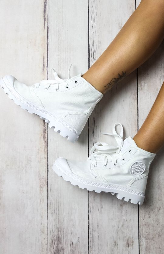 Palladium Pampa Hi Boot - White/White from pepeprmayo.com
