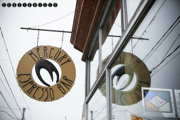 Mercury Espresso Bar- socially responsible beans and some of the bestest specialty coffee drinks in Leslieville!