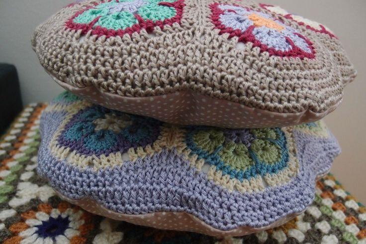 African flower pillows