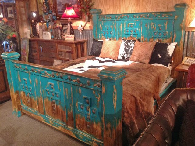 This hand-painted Cathedral Bed will blow you away.  Beautifully crafted with charm and elegance.  Available in turquoise or black accents.  Also available in matching nightstands, a dresser with mirror, and chest of drawers.