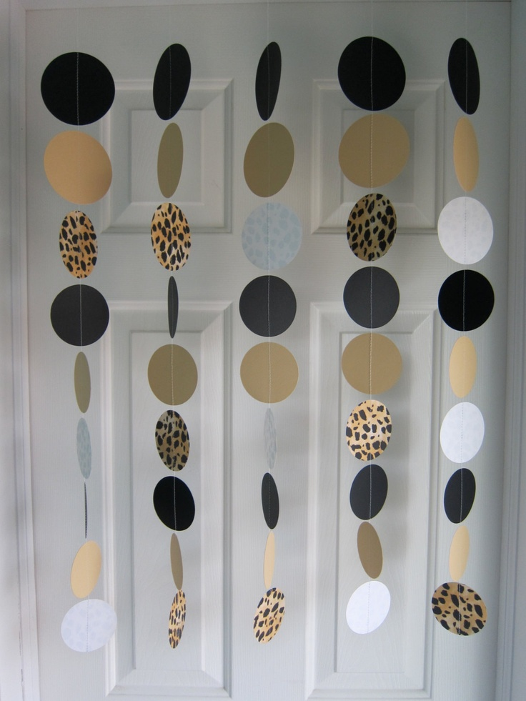 Leopard Garlands Safari Party Decorations Zoo by SuzyIsAnArtist
