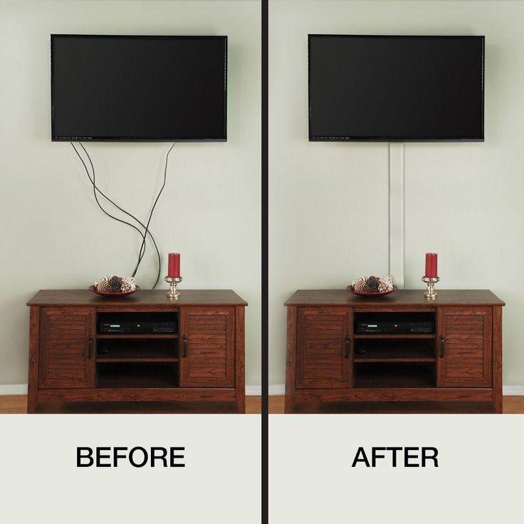 Ce tech flat screen tv cord covera31kw the home depot