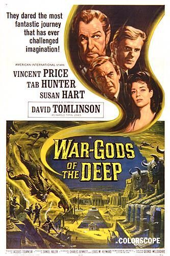 "MP270. ""War-Gods of the Deep"" Movie Poster by Reynold Brown (Jacques Tourneur 1965) / #Movieposter"