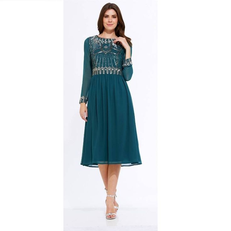 Are you interested in our 1920s midi dress? With our embellished midi dress for weddings you need look no further.