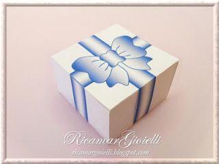 TUTORIAL Scatola quadrata con fiocco blu - Ricamar Gioielli