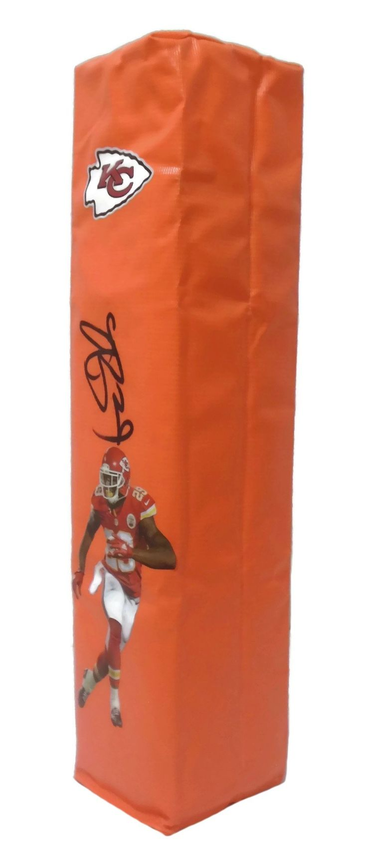 Eric Berry Autographed KC Chiefs Photo Full Size Football End Zone Touchdown Pylon, Proof