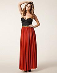 Aztec Maxi Dress - Rare London - Black/orange - Party dresses - Clothing - NELLY.COM UK