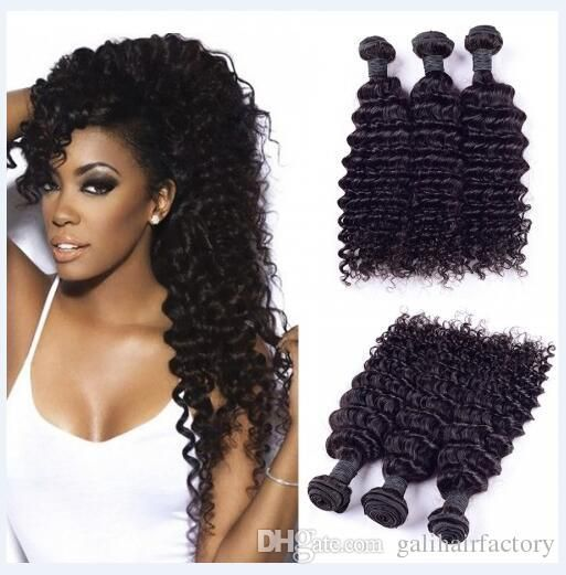 Oltre 25 idee di tendenza per cheap weave su pinterest giardino 8a indian deep wave hair weave unprocessed human hair natural color hair bundles 3pcslot 8 30inch in stock dyeable dhl pmusecretfo Gallery