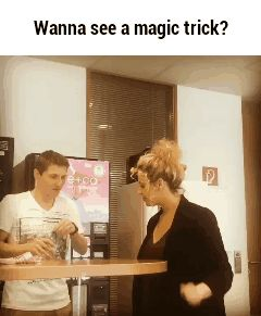 Wanna see a magic trick? GIF