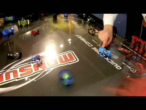 Monsuno toys are new for 2012. Yes, similar to Beyblades, but also different.  Video from Toy Fair 2012