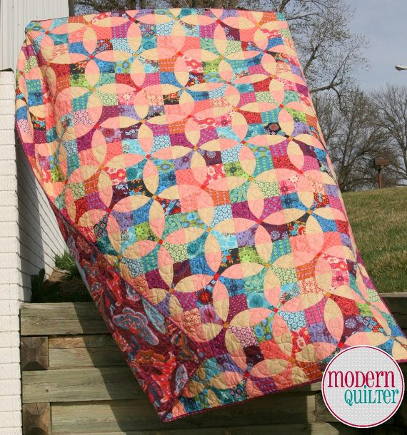 Flowering Snowball Quilt Kit (Anna Maria Horner, True Colors, Flowering Snowball, Flower, Circle, Curved piecing)