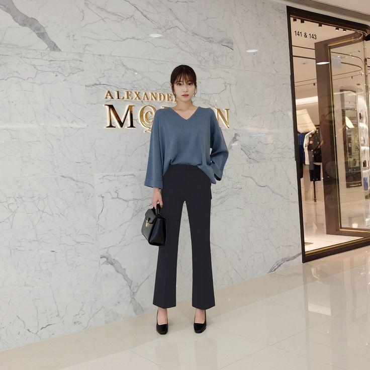 ♡セミブーツカットスラックスパンツ♡ #レディースファッション #ファッション通販 #ファッショントレンド #新作 #最新 #モテ服 #韓国ファッション #韓国レディース通販 #ootd #wiw  #fashionaddict #womensfashion #fashion  https://goo.gl/0mKKwb