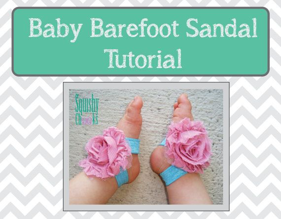 How To Make Your Own Baby Barefoot Sandals Tutorial - Measurements Included - DIY Barefoot Sandals