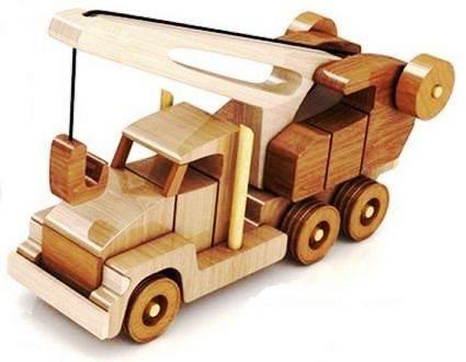 Brinquedo de madeira mãos guindaste - Brinquedos Transporte - brinquedos de madeira - Brinquedos e ofícios com as mãos